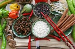 azjatykci składników żywności Zdjęcia Stock