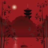 azjatykci tło royalty ilustracja