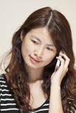 azjatykci telefon używać kobiety Zdjęcie Royalty Free