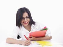 azjatykcia żeńska sekretarka Obraz Stock