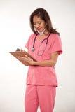 azjatykcia atrakcyjna doktorska żeńska pielęgniarka zdjęcie royalty free