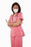 azjatykcia atrakcyjna doktorska pielęgniarki trzydzieści kobieta zdjęcia royalty free