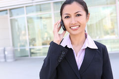 azjatykcia biznesowa ładna kobieta Zdjęcia Royalty Free
