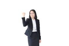 azjatykcia biznesowa kobieta z pracować kostium Obrazy Stock