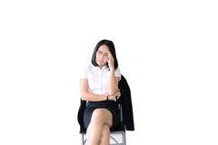 azjatykcia biznesowa kobieta z pracować kostium Zdjęcie Royalty Free