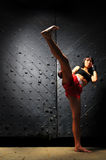 azjatykcia bokserska muay ćwiczyć tajlandzka kobieta Fotografia Royalty Free