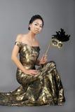 azjatykcia carnaval maskowa kobieta Zdjęcie Royalty Free