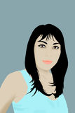 azjatykcia ilustracyjna kobieta Fotografia Royalty Free