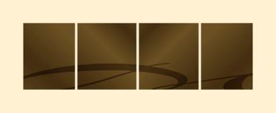 azjatykcia kasetonuje sepiowego inspiracją. Obrazy Royalty Free