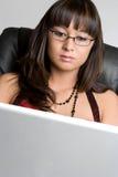 azjatykcia komputerowa kobieta fotografia royalty free
