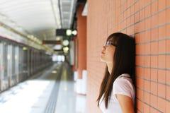 azjatykcia myśląca kobieta Obraz Stock