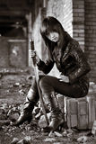 azjatykcia niebezpieczna dziewczyna Fotografia Stock