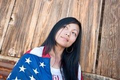 azjatykcia patriotyczna kobieta Fotografia Stock