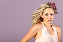 azjatykcia piękna fryzury makeup kobieta obrazy stock