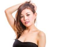 azjatykcia piękna portreta kobieta Zdjęcie Stock