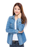 azjatykcia portret kobiety zdjęcia royalty free