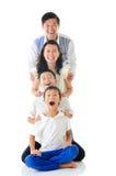 azjatykcia rodziny zdjęcia royalty free
