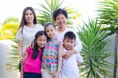 azjatykcia rodziny Zdjęcie Royalty Free