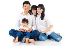 azjatykcia rodziny Zdjęcie Stock