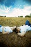azjatykcia romantyczna para Obraz Royalty Free