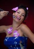 azjatykcia szczęśliwa kobieta Zdjęcia Stock