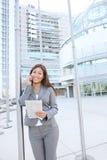 azjatykcia telefon kobieta jednostek gospodarczych Fotografia Stock
