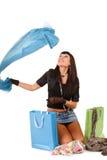 azjatykcia torba nad zakupy kobiety potomstwami Obraz Royalty Free
