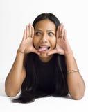 azjatykcia twarz obramiający kobiety potomstwa Fotografia Stock