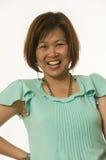 azjatykcia uśmiechnięta kobieta Zdjęcia Stock
