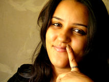azjatykcia uśmiechnięta kobieta Zdjęcie Stock