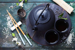 azjatykcia ustalona herbata Obrazy Royalty Free