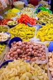 azjatykcich koszy owocowy rynek Fotografia Royalty Free