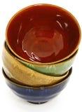azjatykcich pucharów ceramiczny kolorowy zdjęcia royalty free
