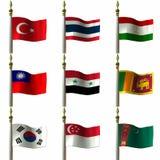 azjatykcie centralne wschodnie flagę Zdjęcie Stock