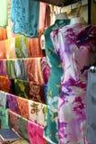 azjatykcie tradycyjne tkaniny obrazy stock