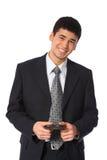 azjatykciego biznesmena uśmiechnięci potomstwa Zdjęcie Stock