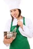 azjatykciego szef kuchni ładna kobieta Fotografia Royalty Free
