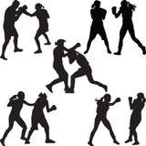 azjatykciego tła boksera target877_1_ caucasian dysponowanych sprawności fizycznej rękawiczek szczęśliwa wzorcowa portreta czerwi Obraz Royalty Free