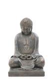 azjatykciego tła Buddha odosobniony biel Obrazy Royalty Free