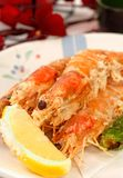 azjatykciej świeżych cytryn krewetek tempura cały Obrazy Stock