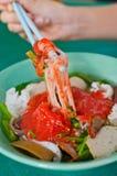 azjatykciej chińskiej kuchni elicious rybia fu pasta faszerował tau Yong obraz royalty free