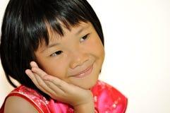 azjatykciej dziewczyny mały cukierki Zdjęcia Stock