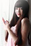azjatykciej dziewczyny salowy portret Obraz Royalty Free
