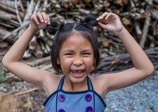 azjatykciej dziewczyny szczęśliwy mały zdjęcie stock
