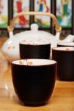 azjatykciej tła zbliżenia filiżanki ustalona herbata Zdjęcie Stock