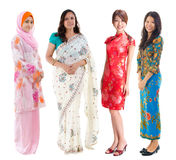 Azji Południowo Wschodniej grupa. Zdjęcie Stock