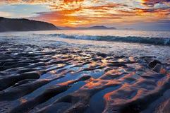 Azkorri beach Royalty Free Stock Photos