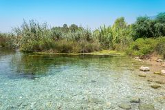 Azmak stream in Akyaka village in Turkey stock image