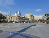 Azneft fyrkant i Baku royaltyfri fotografi