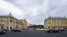 Azneft kwadrat, Baku Azerbejdżan Fotografia Stock